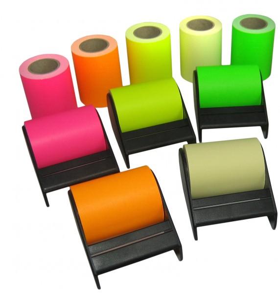 """Abroller für Haftnotizband 10m:60mm mit neon ROLL 'N' WRITE - """"Postit"""""""