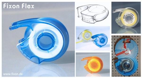 FIXON FLEX - Klebefilmabroller für kleine Hände inkl. 10m:19mm Klebefilm
