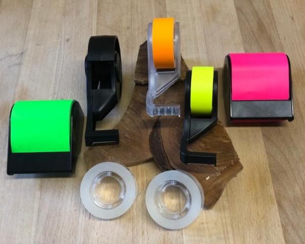 POSTIT-HAFTIE-SET - Haftnotizbänder und Fixon Abroller im Paket