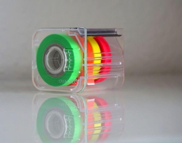 4-fach Abroller für Markierungsband inkl. 4 Bändern - Roll 'n' Mark Abroller